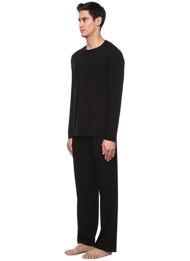 Derek Rose Pijama Takım Siyah